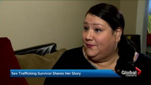 Child sex trafficking survivor speaks out