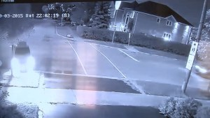 Security camera footage of car crashing into Mississauga home