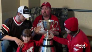 Grey Cup visits the Southwood Hospice