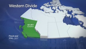 Comparing BC's budget surplus to Alberta's multi-billion dollar deficit