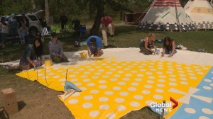 Tipi painting project hosted in honour of National Aboriginal Day