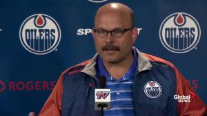 Oilers GM Peter Chiarelli: It's a need based trade with Hall-Larsson swap