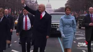 Trump Inauguration: Donald Trump gets out of motorcade to walk parade route
