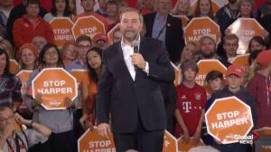 Mulcair comments on the legacy he would leave behind as PM