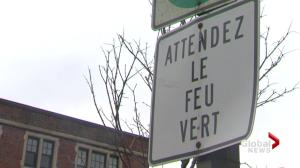 Petition to make Quebec road signs bilingual