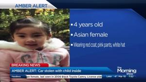 Amber Alert issued after 4-year-old girl abducted from Toronto home