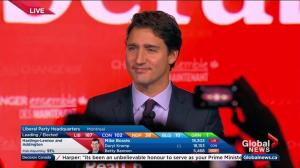 "Federal Election 2015: ""Sunny Ways, Sunny Ways"" Justin Trudeau celebrates victory"