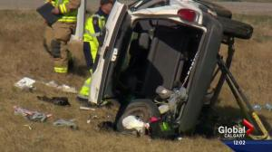 Two dead, several injured in rollover west of Calgary
