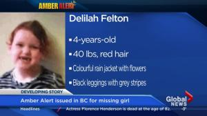 AMBER ALERT: Vancouver Police searching for 4-year-old girl