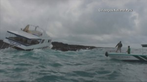 RAW: Tour boat carrying 16 Americans in Ecuador runs aground