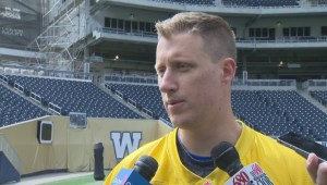 RAW: Blue Bombers QB Drew Willy on day 1 of mini camp