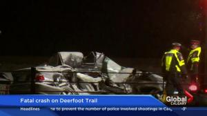 Fatal crash on Deerfoot Trail