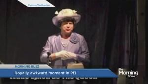 Awkward moment on the Royal Tour