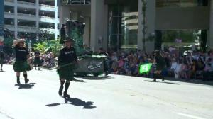 Stampede Parade: Men in Kilts