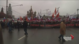 Thousands of Russians march in memory of assassinated politician