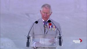 Prince Charles delivers speech at the 100th anniversary of the Battle of Vimy Ridge