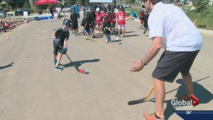 Street hockey camp with former Oilers