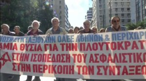 Thousands of protesters hit the streets of Greece to rally against pension cuts