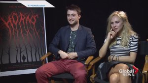 "Daniel Radcliffe and Juno Temple on their new movie ""Horns"""