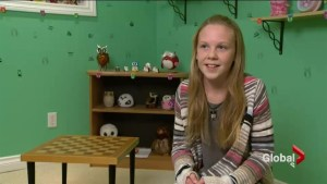 Grade six student interviews political candidates