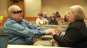 Patient uses Second Sight retinal prosthesis for the first time