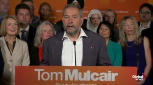 Thomas Mulcair facing first debate in strange position as frontrunner