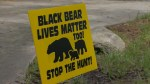 'Black Bear Lives Matter' signs create controversy