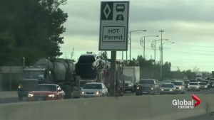 HOT lanes open up on a stretch of QEW