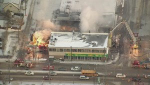 RAW: Chopper shots of Roxy Theatre fire