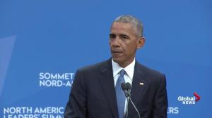 Obama goes on long rant about Donald Trump – without ever mentioning his name