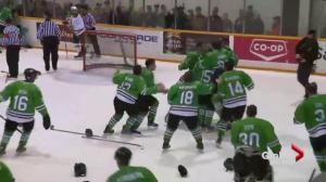 Saskatchewan Huskies men's hockey team wins Canada West