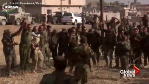 Peshmerga forces dance, celebrate victories on first day of Mosul offensive