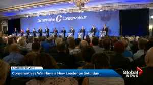 Conservatives will have a new leader on Saturday