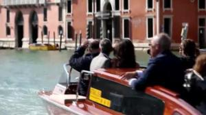 George Clooney arrives in Venice for impending nuptials