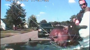 Ohio cops slam suspect's head into windshield so hard it cracks