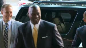 Michael Jordan arrives in court as part of ongoing lawsuit