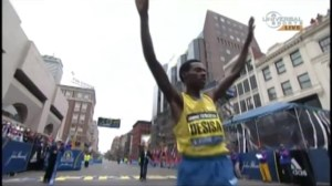 Emotional day at 2015 Boston Marathon as winner reflects on bombing