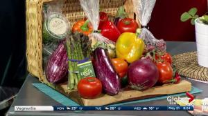 Farmers market finds and local food in the Global Edmonton kitchen (Part 1 of 3)