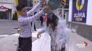 Toronto mayoral candidates Olivia Chow and Karen Stintz take ice bucket challenge
