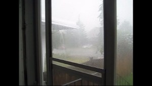 Viewer video of Calgary storm