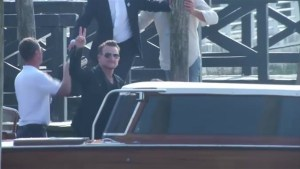 Raw video: Reaction from Alamuddin's ancestral village on Clooney wedding, Bono arrives