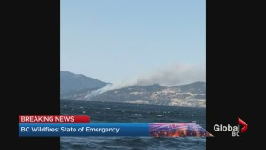 Wildfire burning in Lake Country