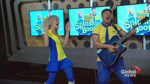"Children's musical duo Splash'N Boots performs ""Antelopes Love Cantaloupes"""