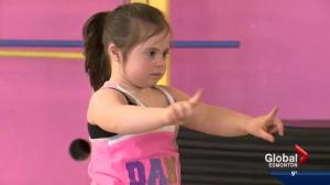 Young Edmonton girl with Down syndrome dazzles with her dance moves
