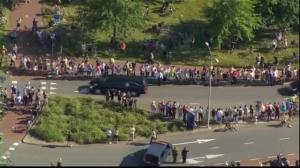 Raw video: Thousands line the streets as bodies of MH17 victims return to Holland