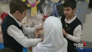 Local kids bring chocolate treat to sick kids