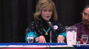 Jane Fonda touring Alberta oilsands leaves some up in arms