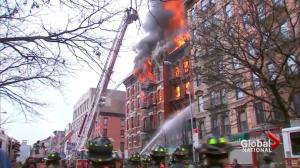Building explosion in New York's East Village
