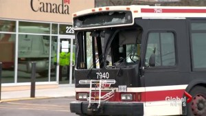 Police investigating what caused TTC bus crash in Etobicoke