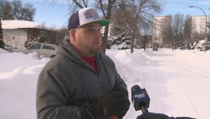 Talking with Winnipeggers affected by the still snow covered sidewalks